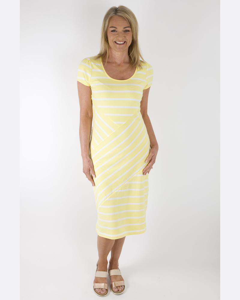 Marble Lemon Striped Dress
