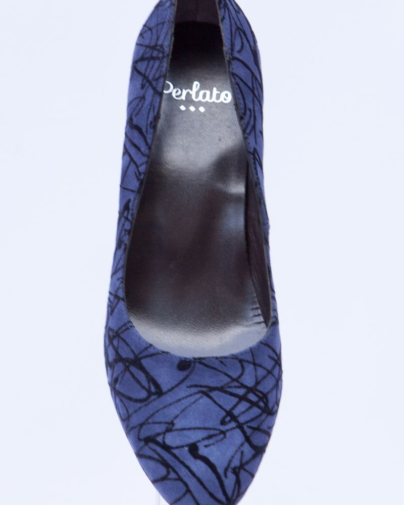 Perlato Navy Wedge